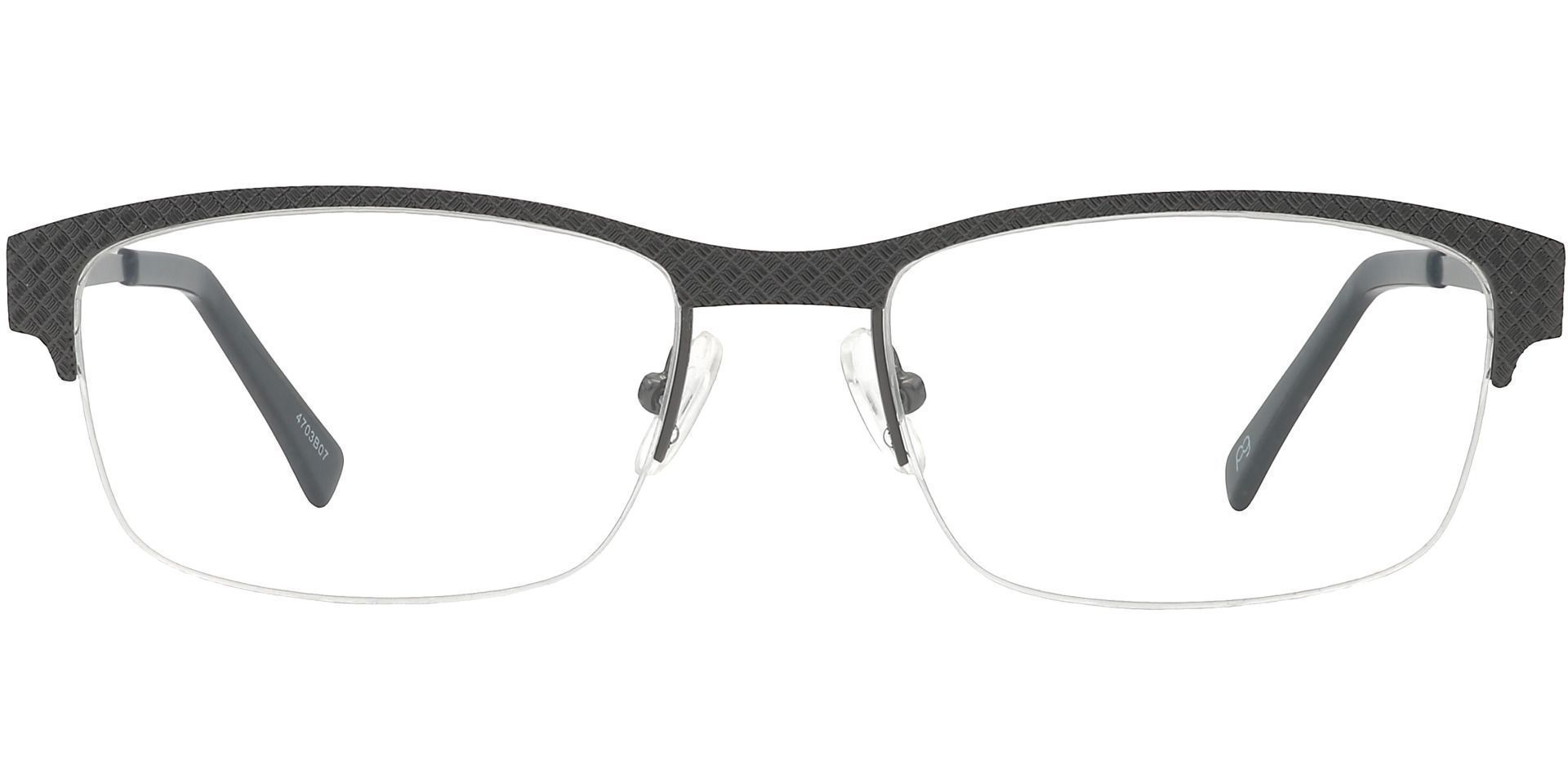 Bret Rectangle Non-Rx Glasses - Gray
