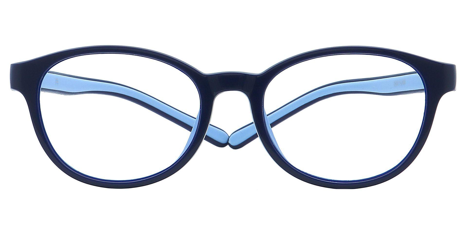 Pace Round Prescription Glasses - Blue