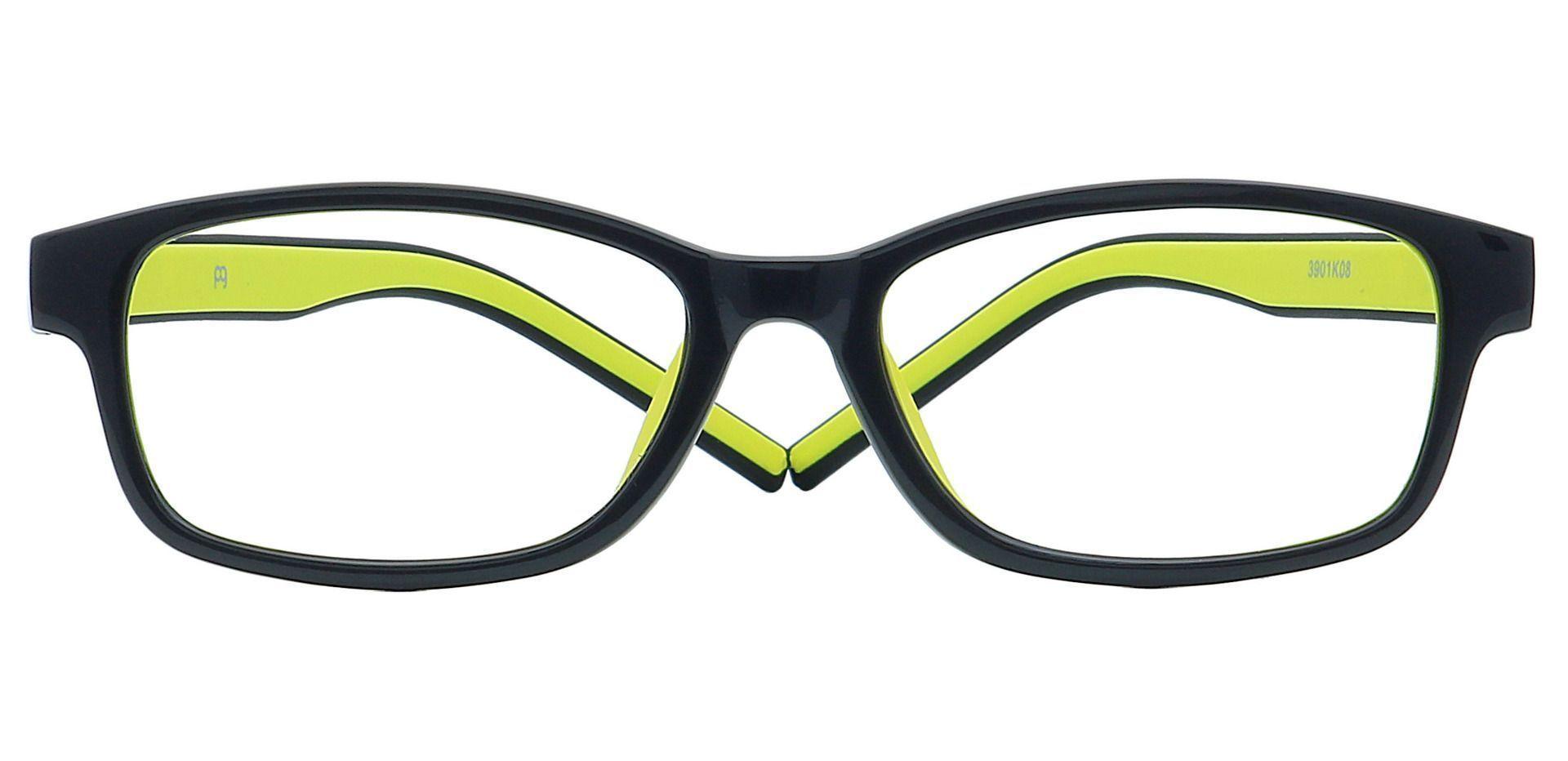 July Rectangle Non-Rx Glasses - Black