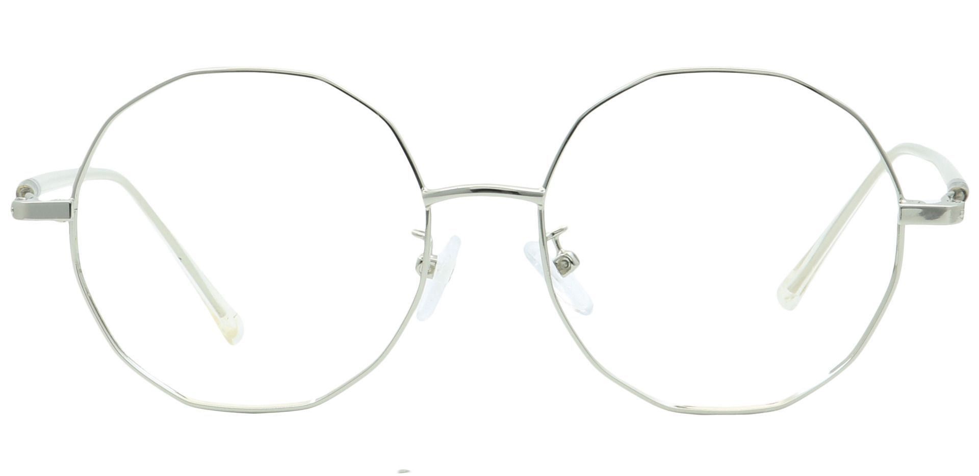 Niles Round Blue Light Blocking Glasses - Clear