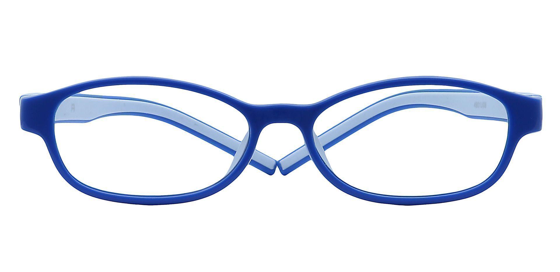 Moxie Oval Single Vision Glasses - Blue