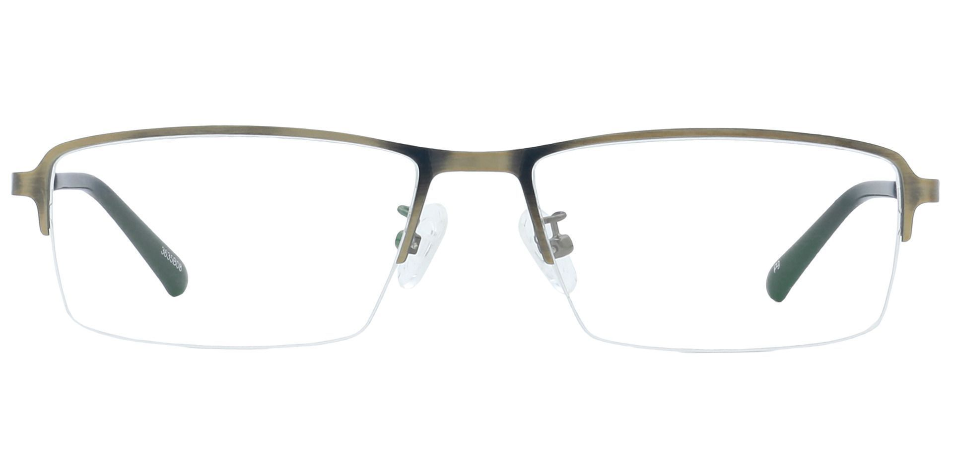 Channing Rectangle Eyeglasses Frame - Brown