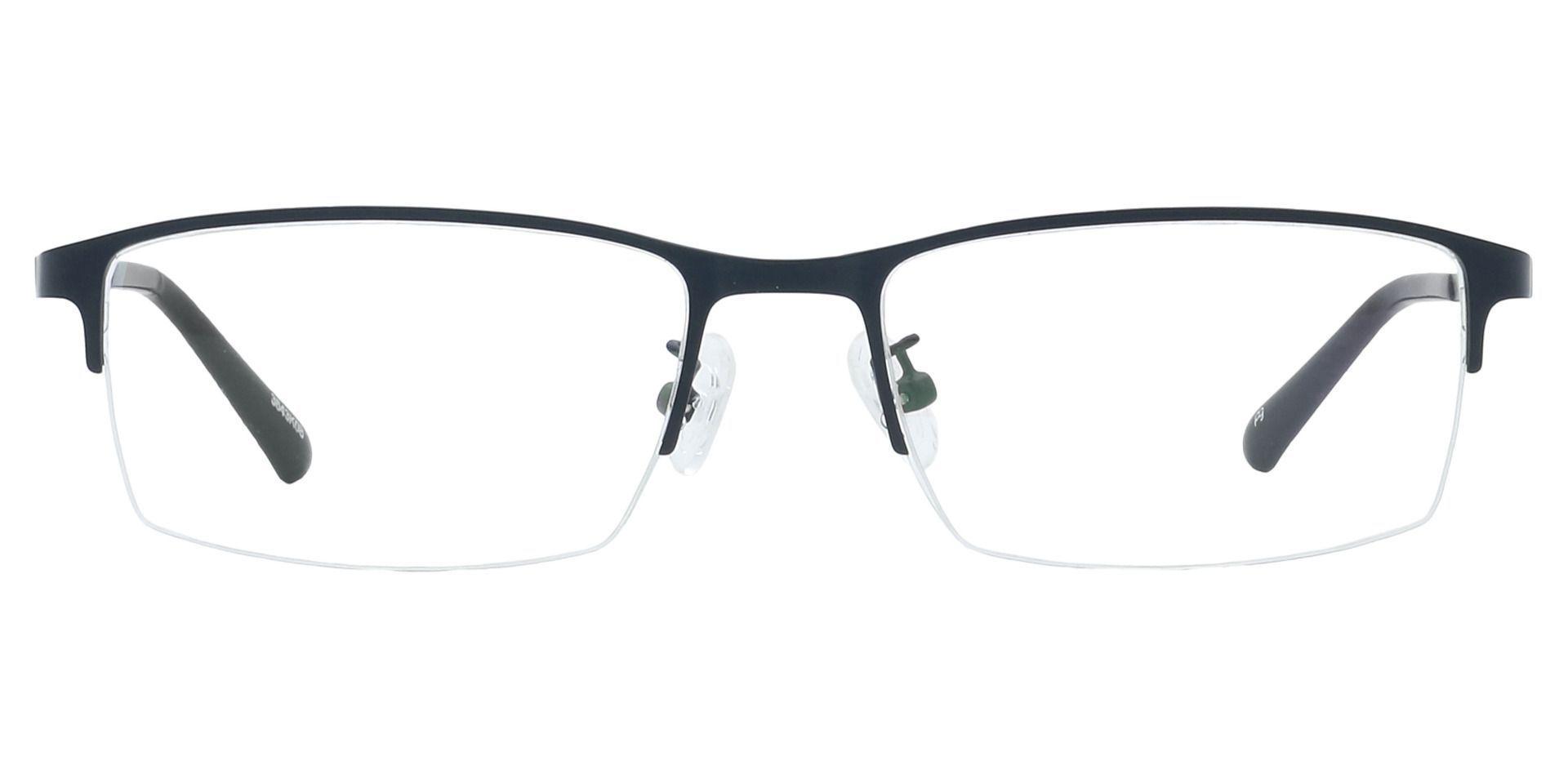 Percy Rectangle Reading Glasses - Black