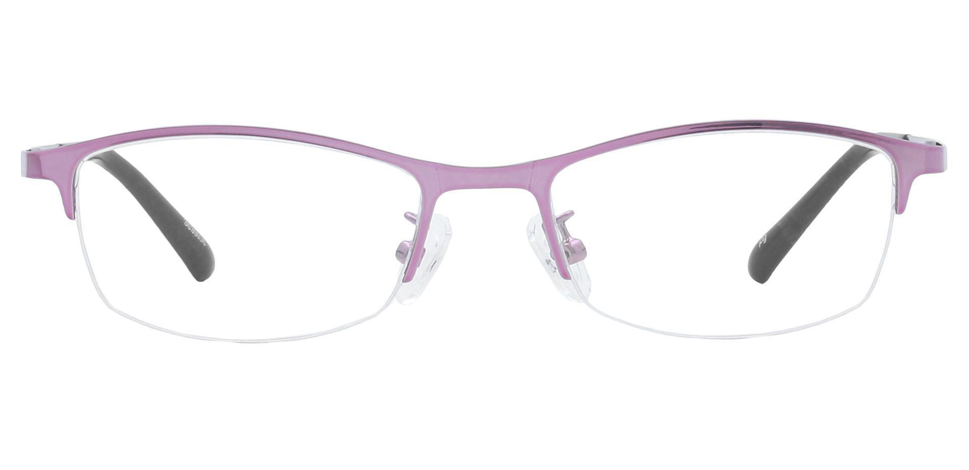 Eliza Rectangle Eyeglasses Frame - Pink