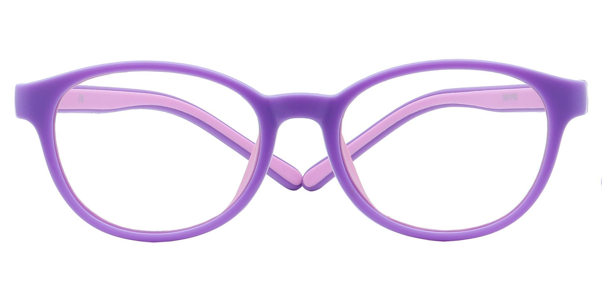 Pace Round Blue Light Blocking Glasses - Purple