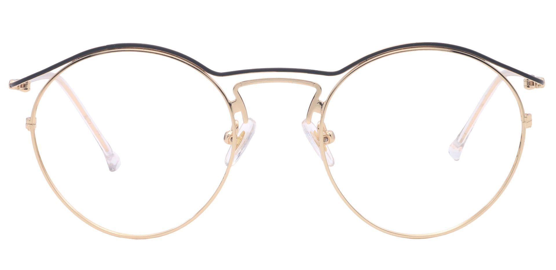 Milan Round Lined Bifocal Glasses - Yellow