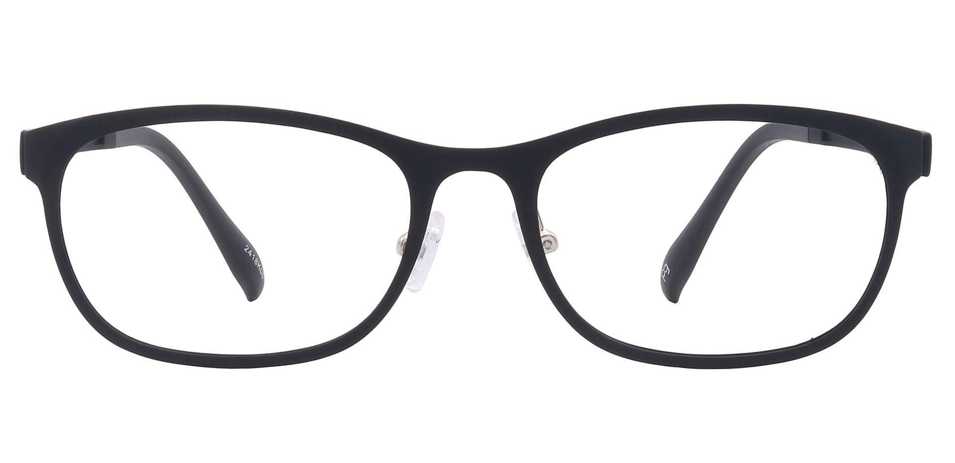 Tori Oval Blue Light Blocking Glasses - Black