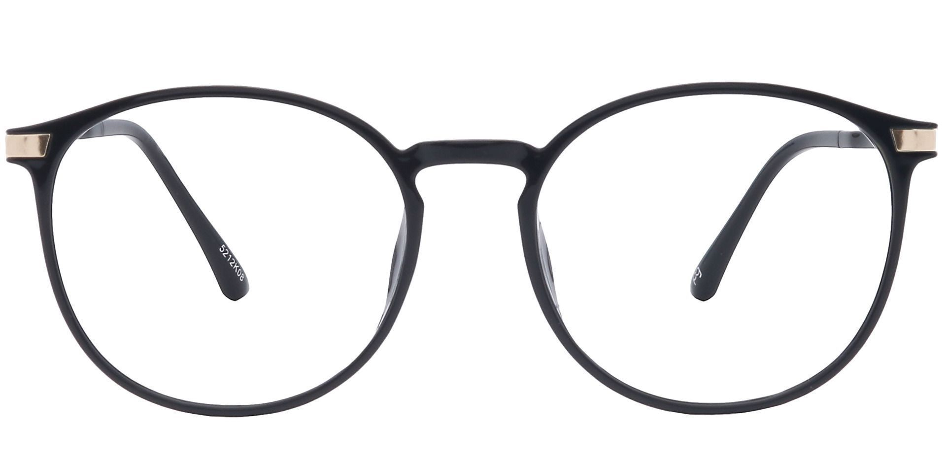 Brighton Oval Prescription Glasses - Black