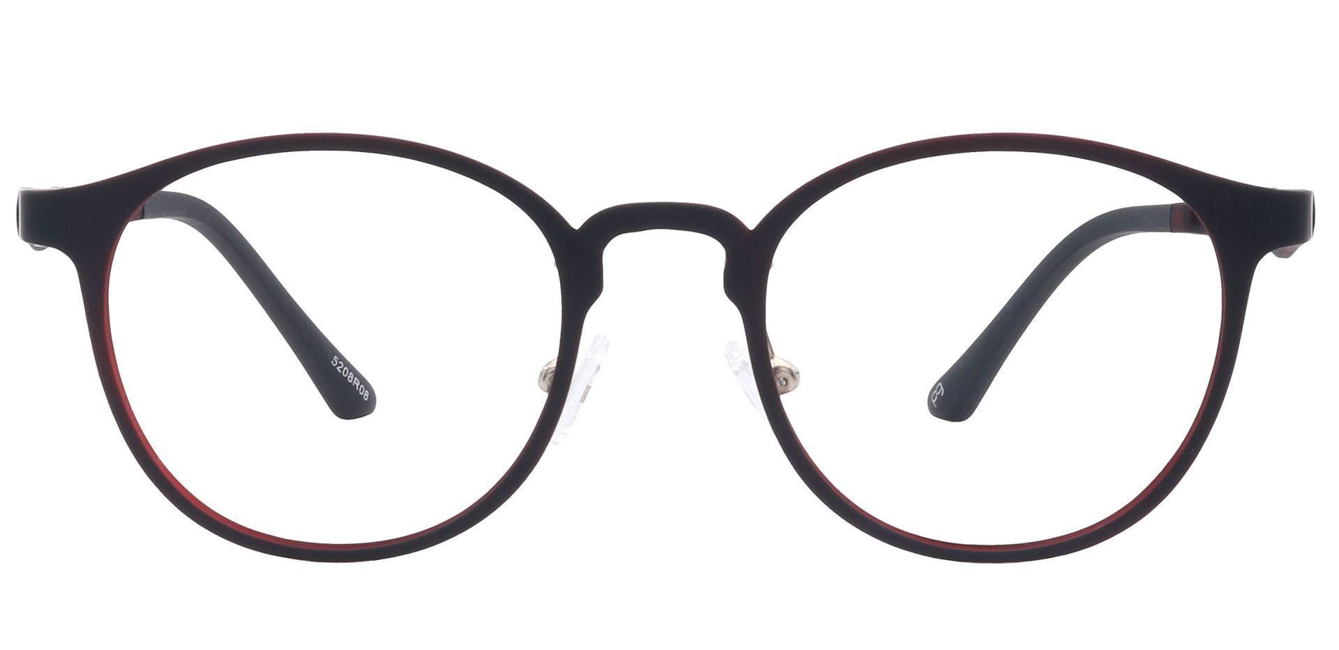 Nimbus Oval Non-Rx Glasses - Red