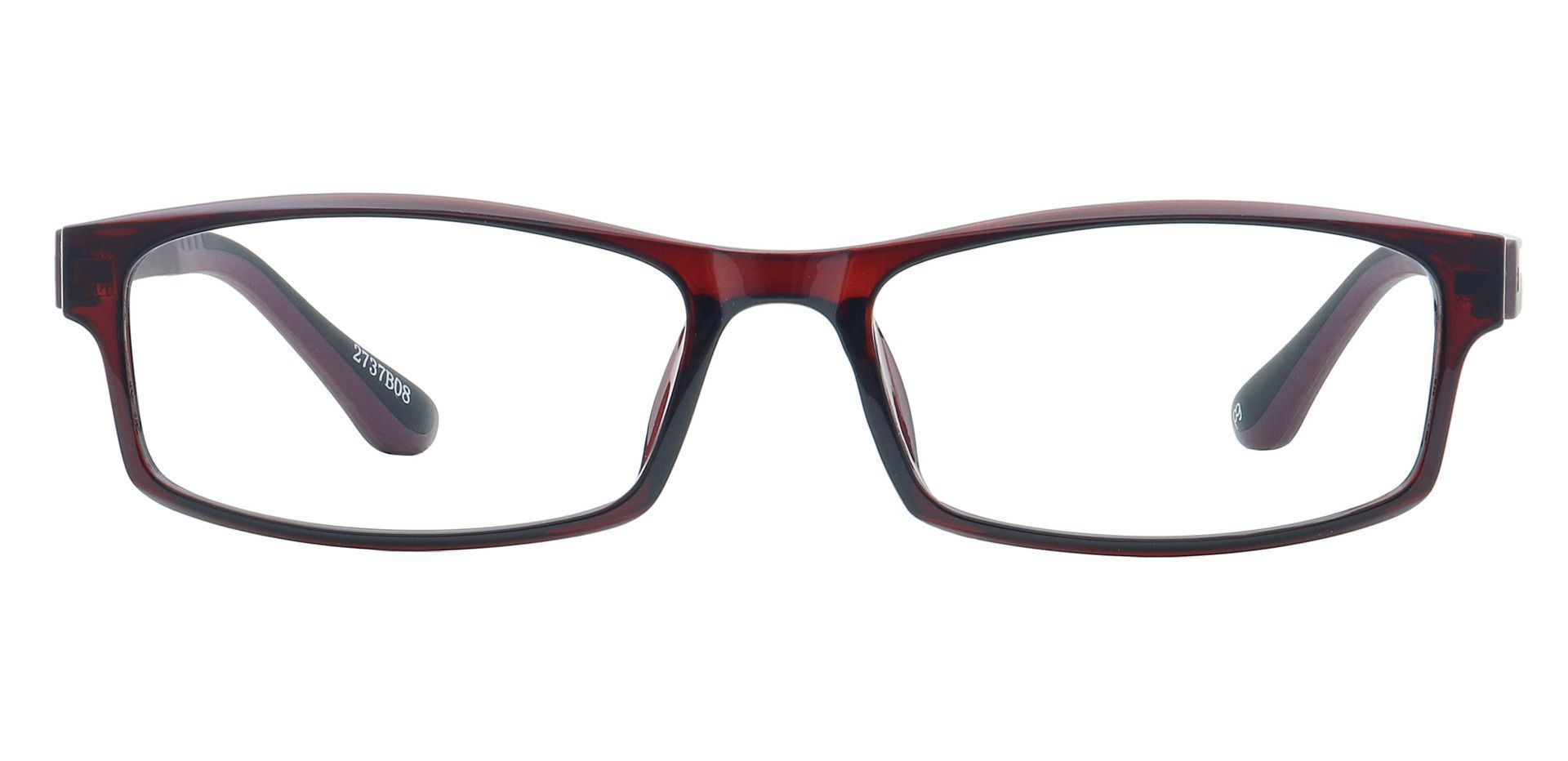 Tatum Rectangle Single Vision Glasses - Brown