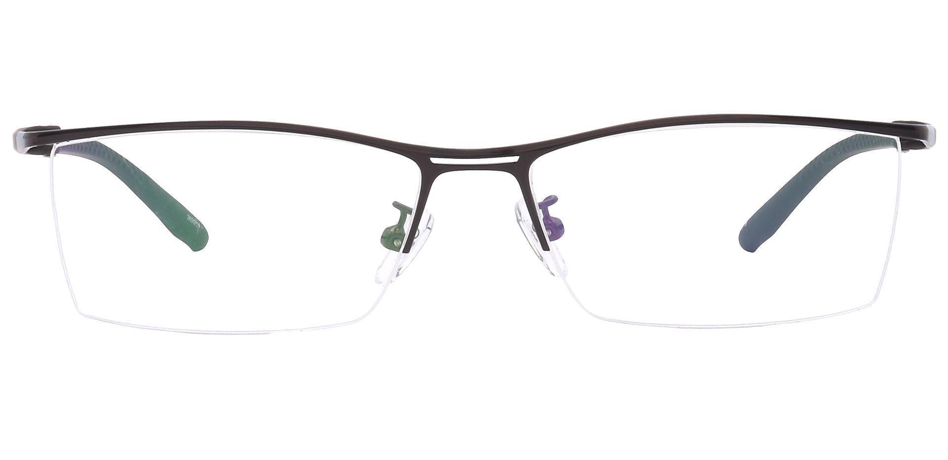Taylor Rectangle Eyeglasses Frame - Brown