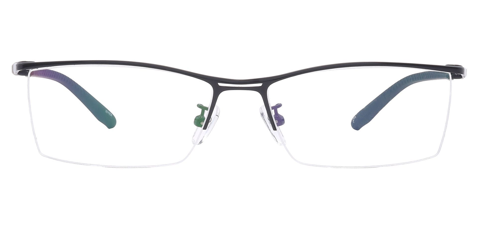 Taylor Rectangle Prescription Glasses - Black