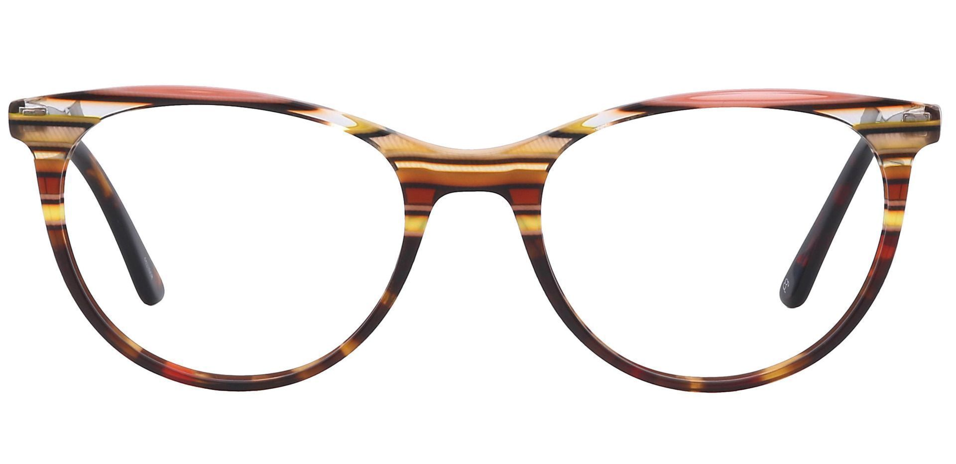 Patagonia Oval Prescription Glasses - Multicolored Brown Stripes  Multicolor