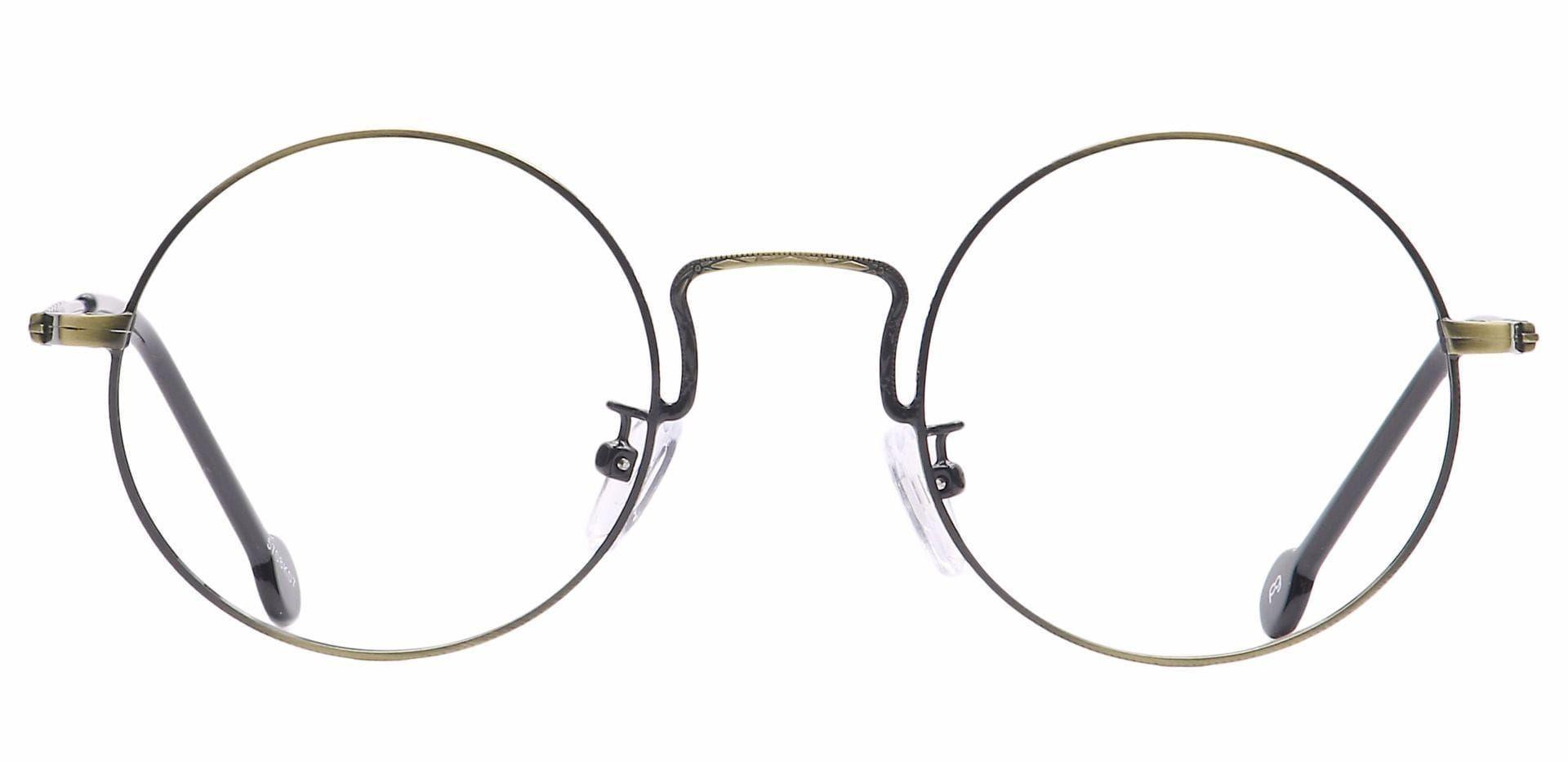 Nonpareil Circular Blue Light Blocking Glasses - Black