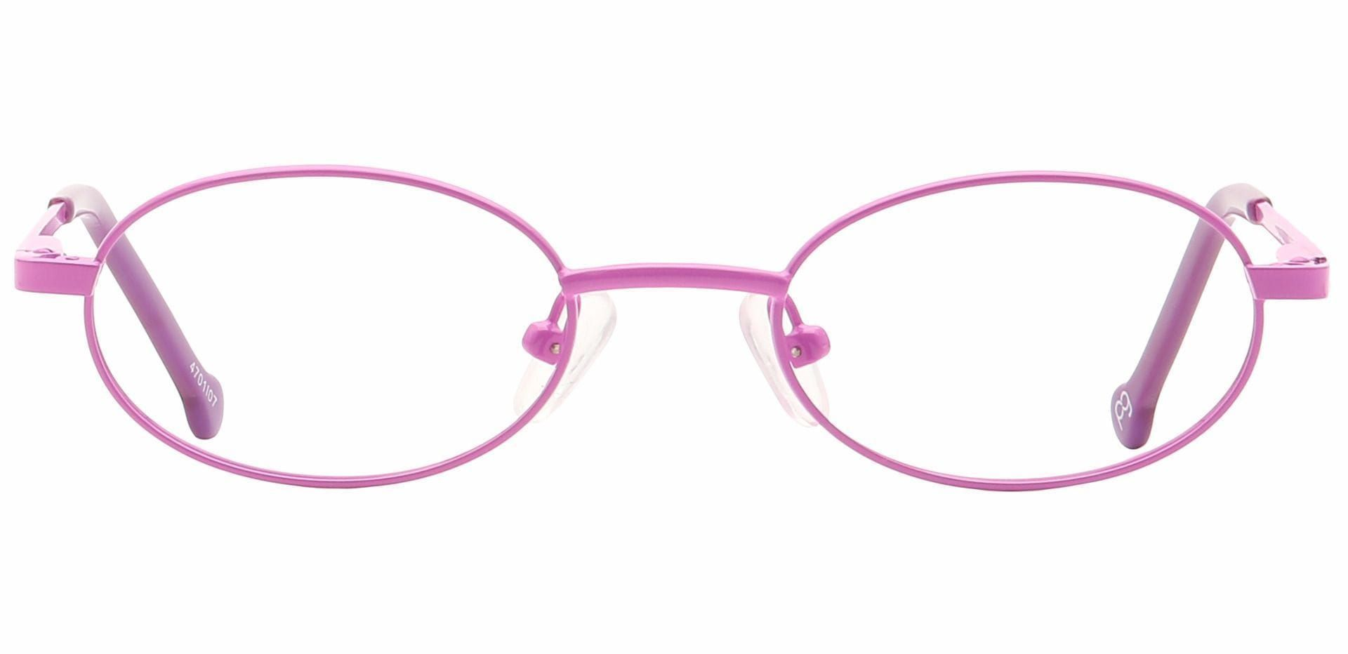 Lara Oval Blue Light Blocking Glasses - Pink