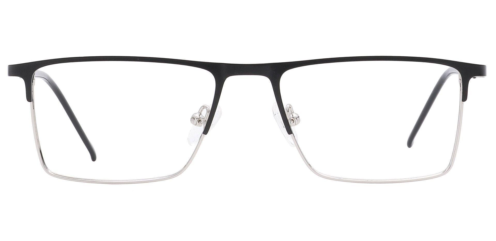 Arnold Rectangle Prescription Glasses - Black/silver