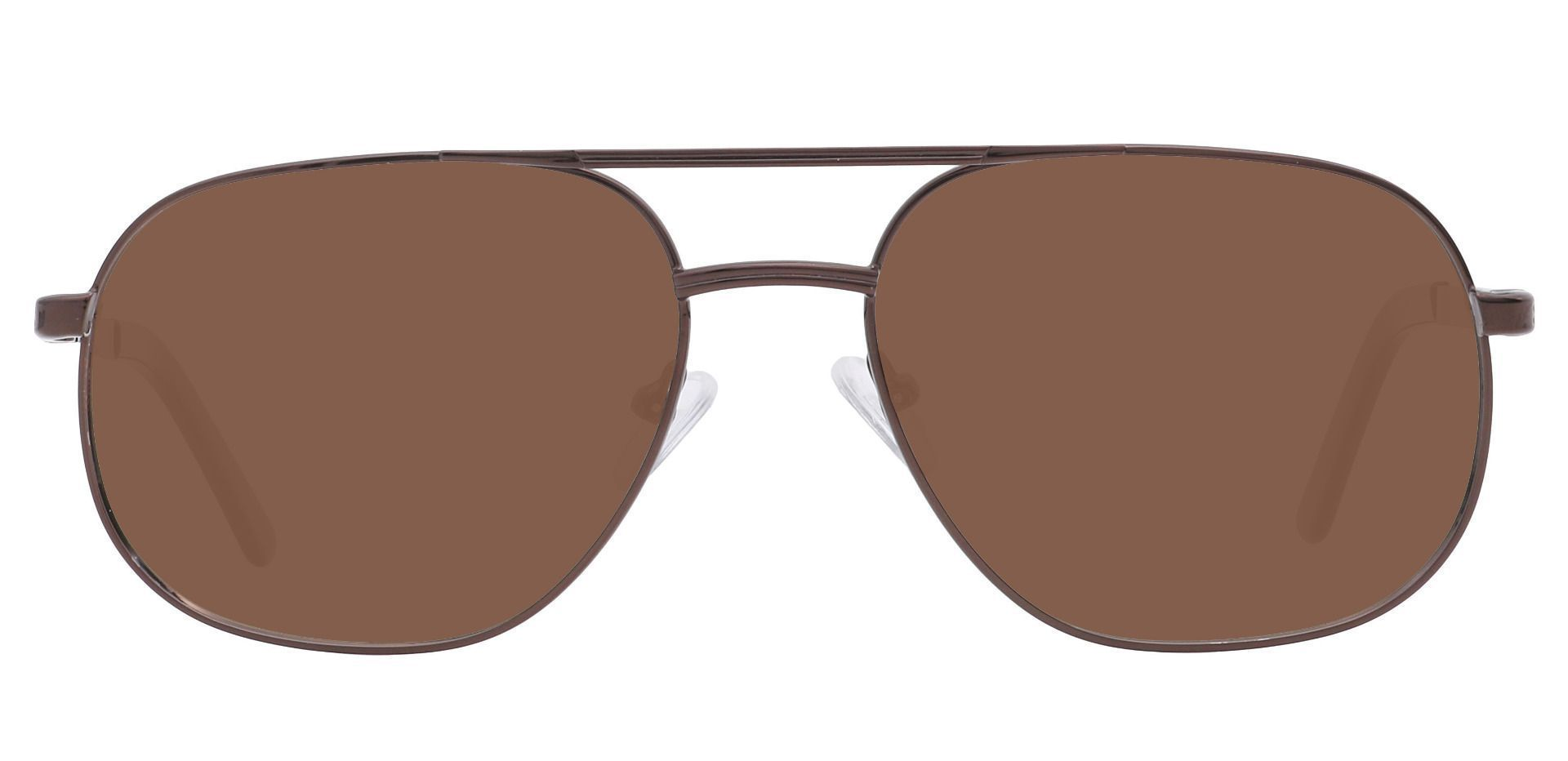 Locke Aviator Single Vision Sunglasses - Brown Frame With Brown Lenses