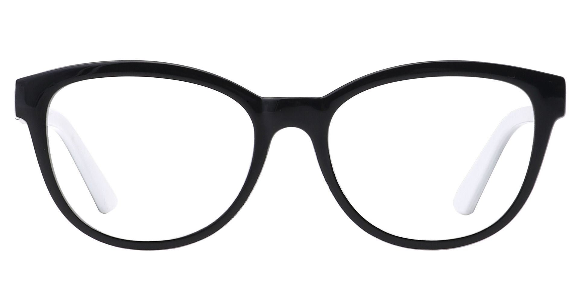 Primrose Oval Lined Bifocal Glasses - Black