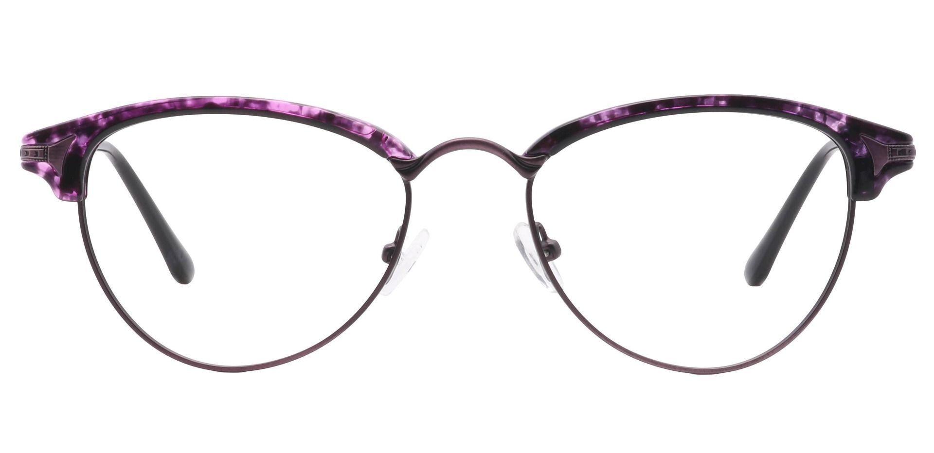 Monaco Browline Prescription Glasses - Purple
