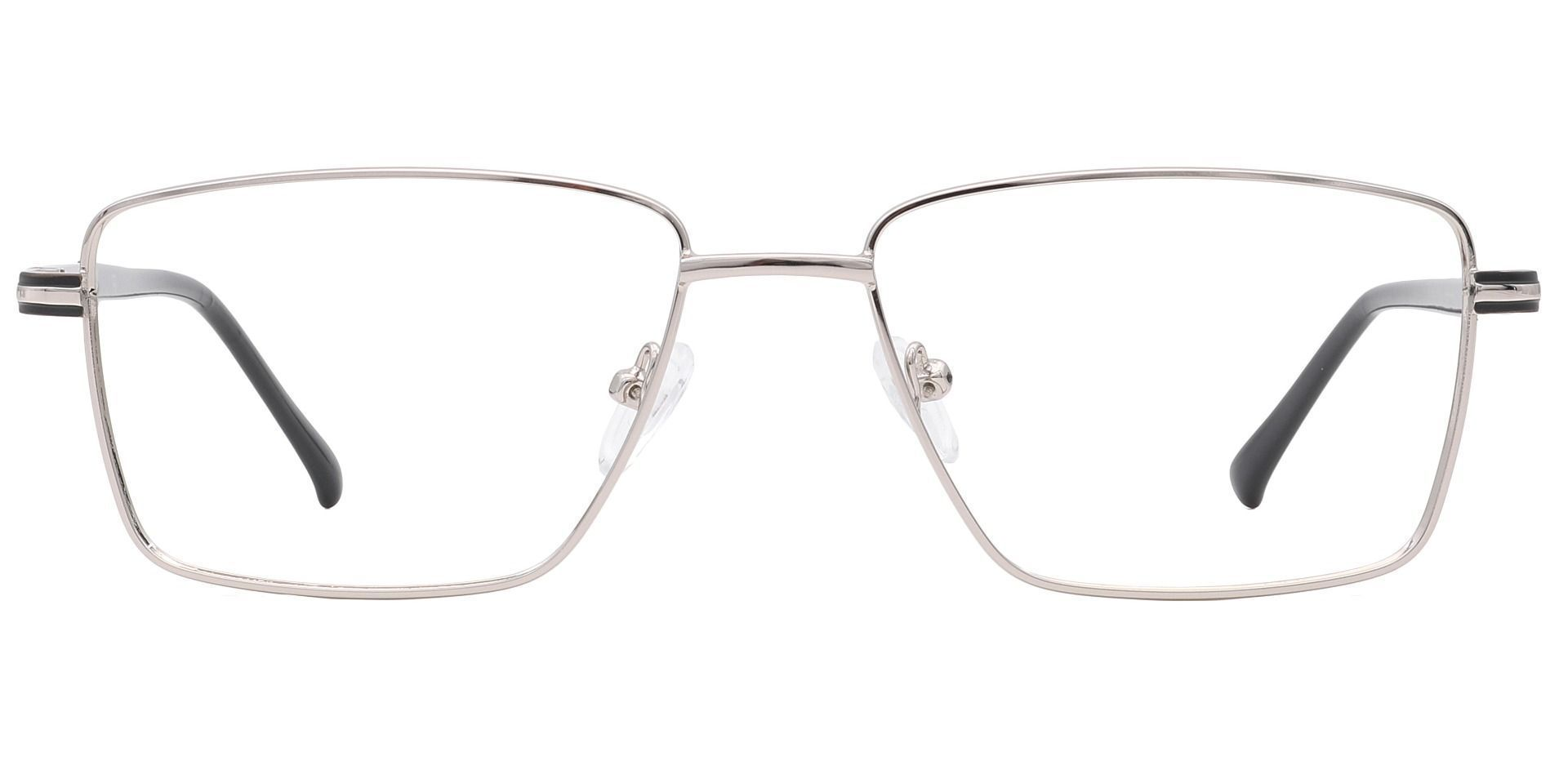 Daniel Rectangle Eyeglasses Frame -    Silver