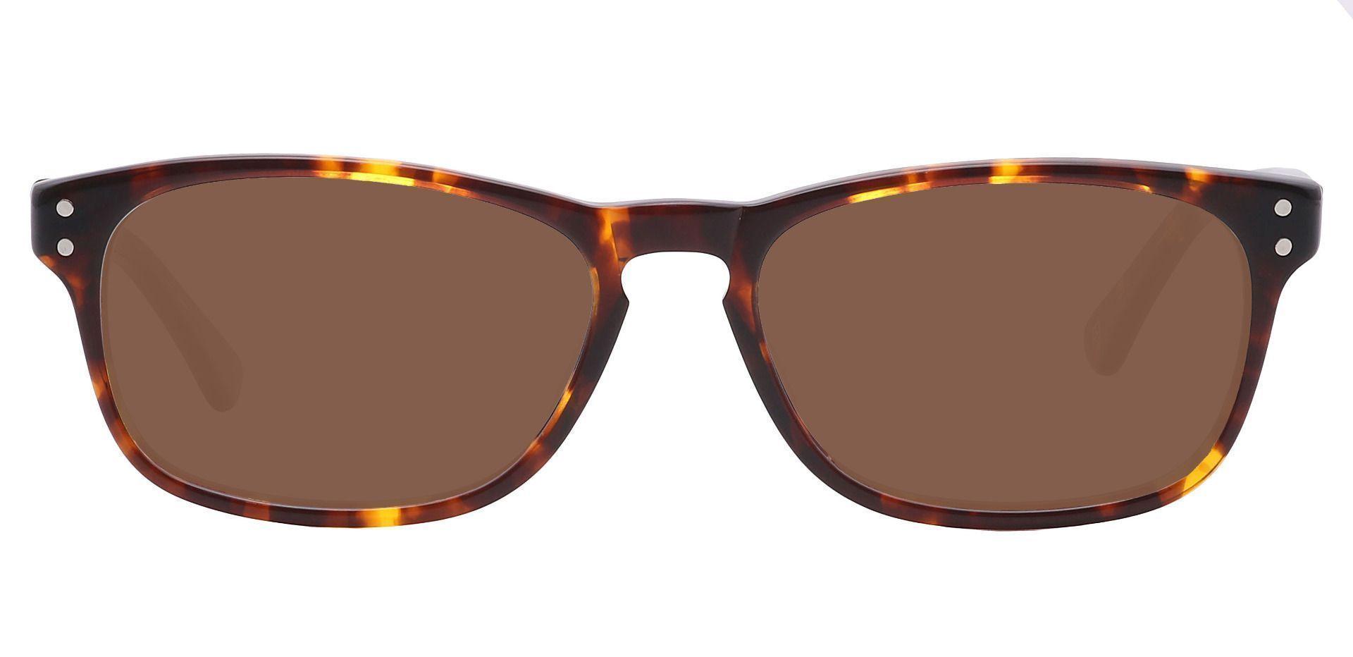 Morris Rectangle Reading Sunglasses - Tortoise Frame With Brown Lenses
