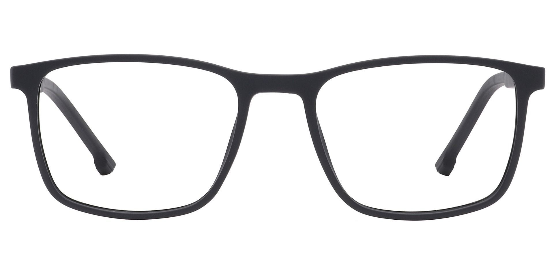 Franklin Rectangle Prescription Glasses -   Matte Black