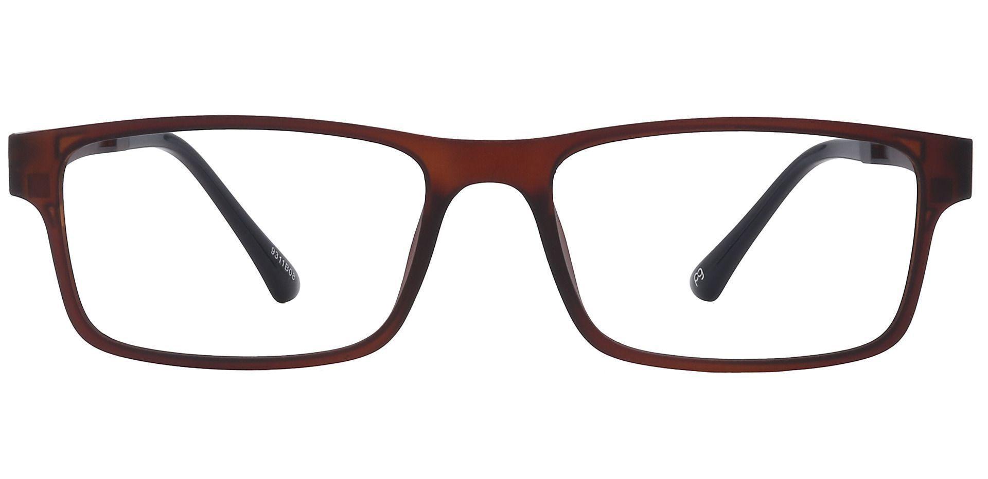 Zuma Rectangle Prescription Glasses - Brown