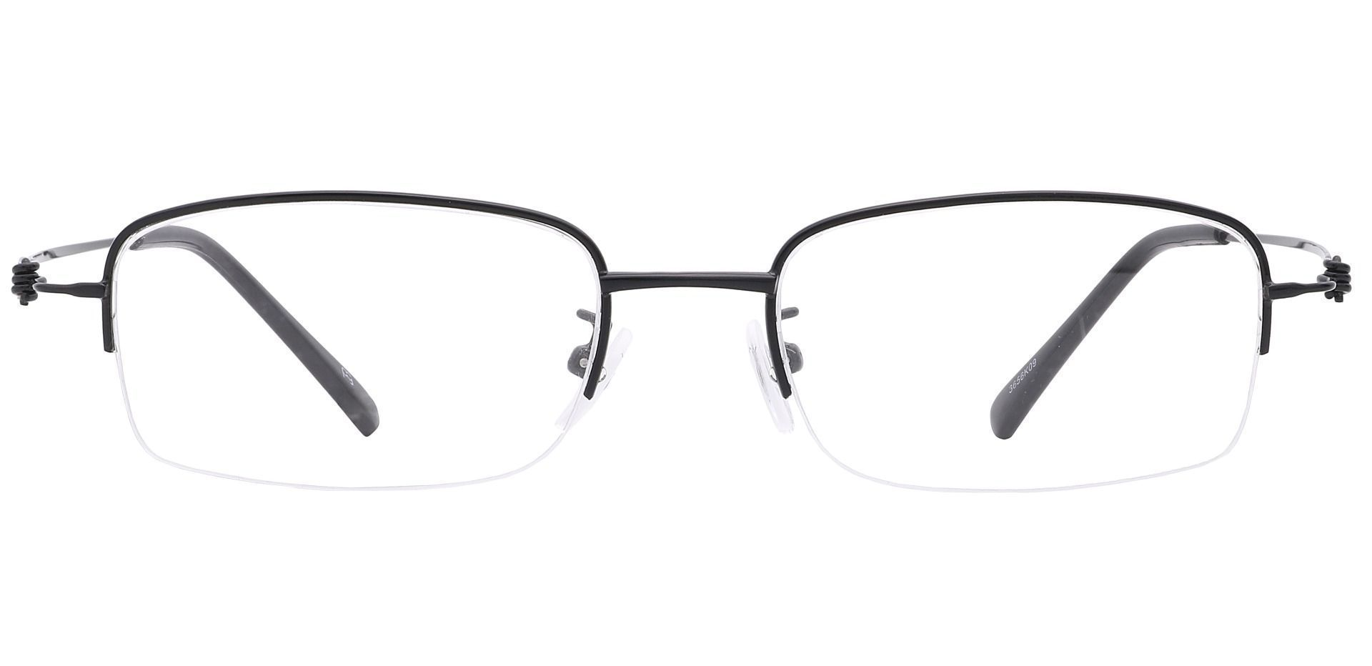 Walton Square Prescription Glasses - Black