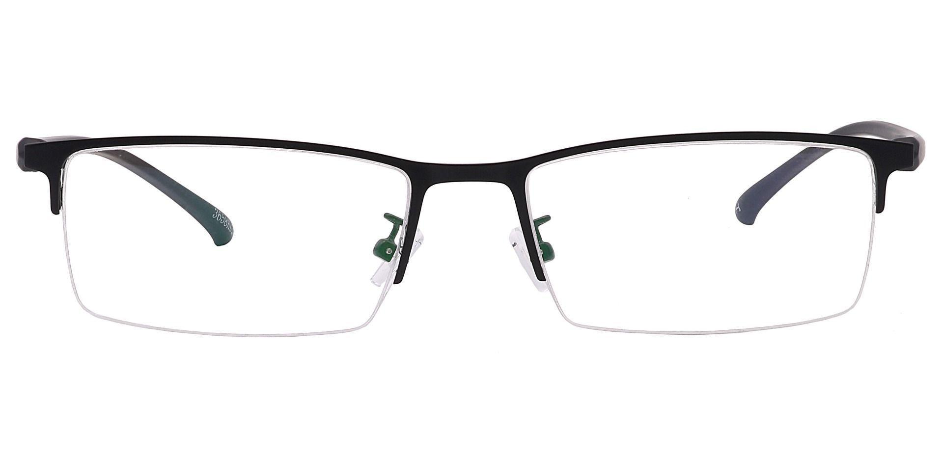 Tampa Rectangle Prescription Glasses - Black