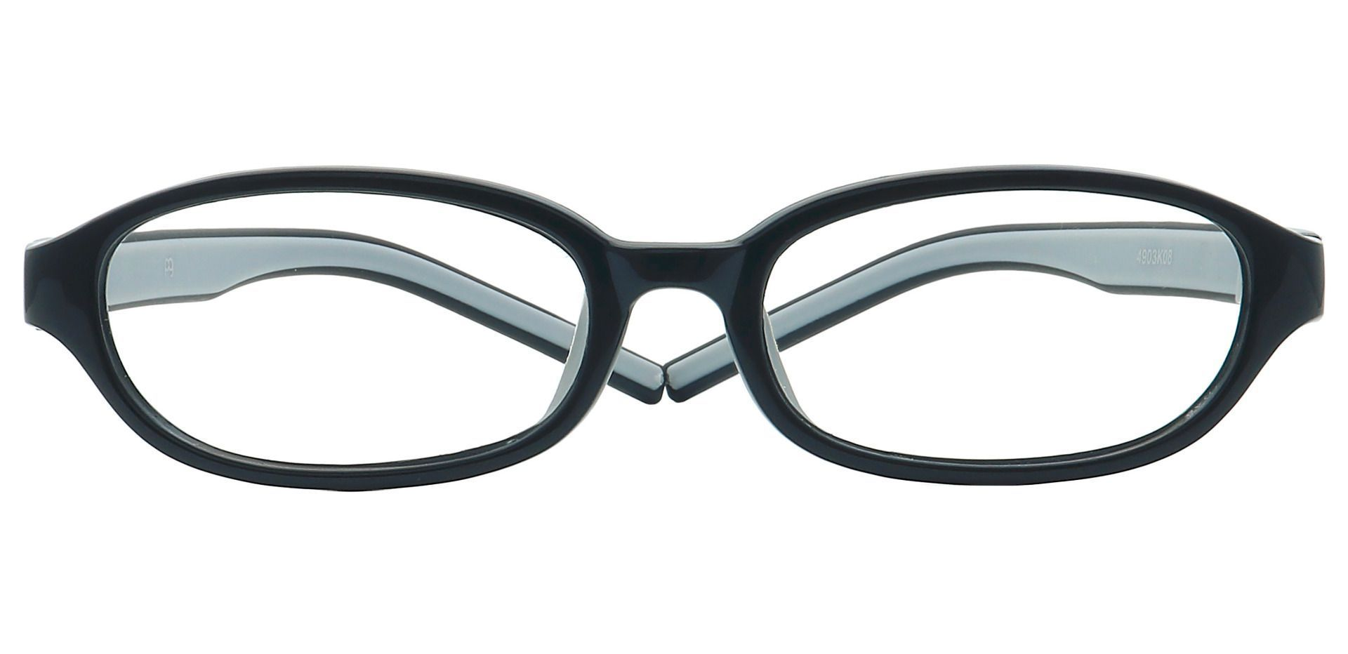 Scoop Oval Single Vision Glasses - Black