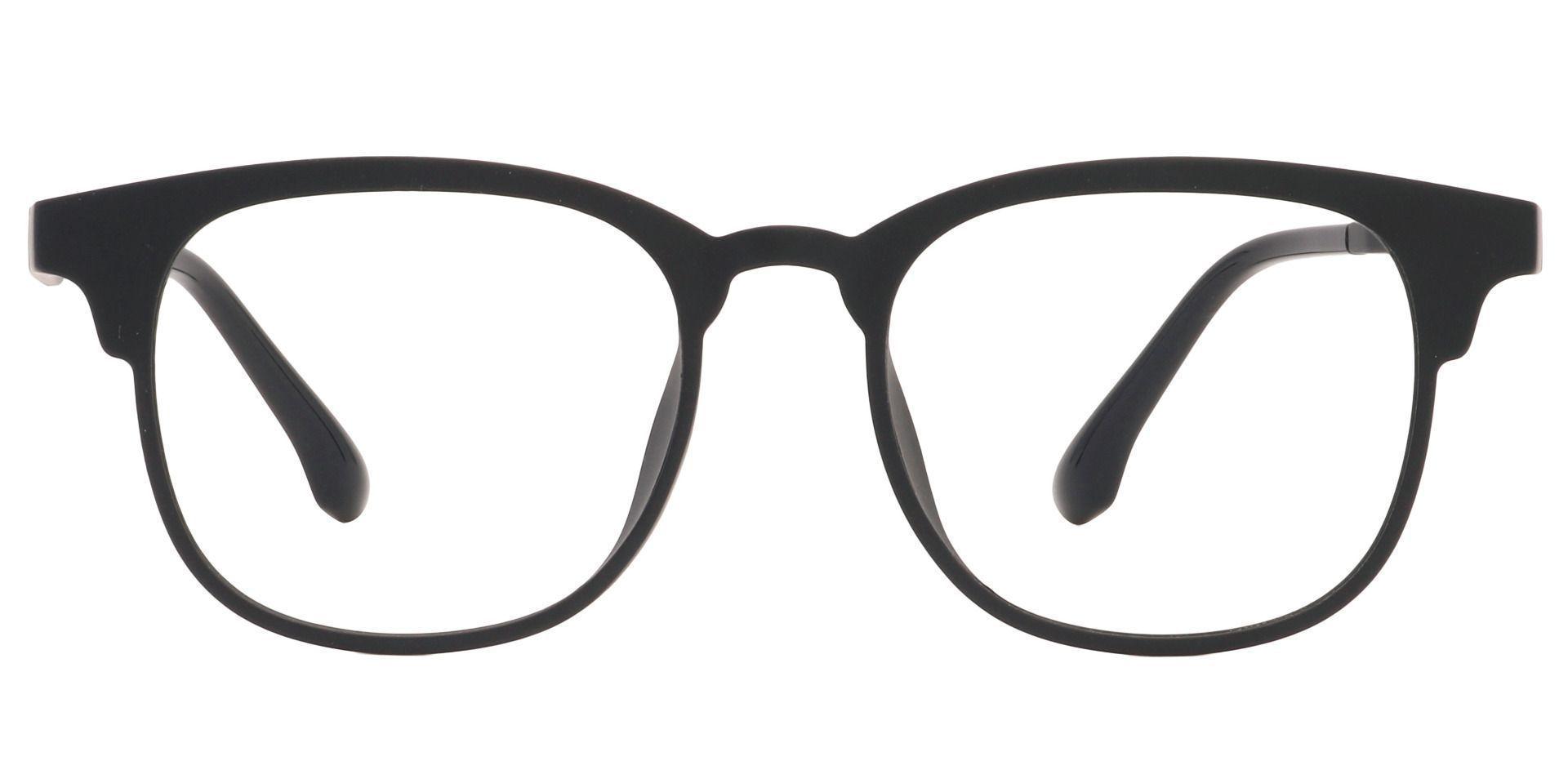 Cactus Oval Prescription Glasses - Black