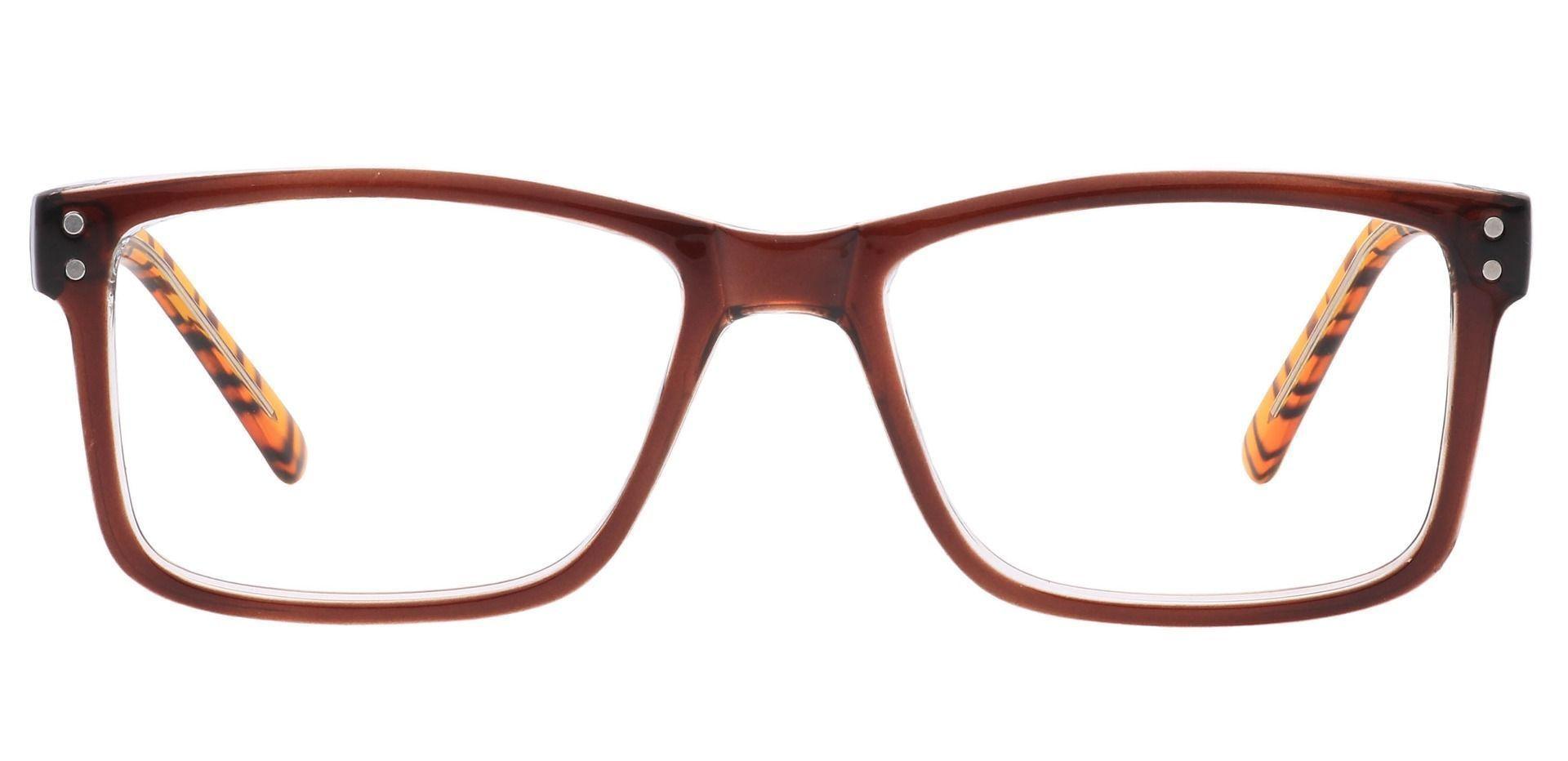 Bedford Rectangle Prescription Glasses - Brown
