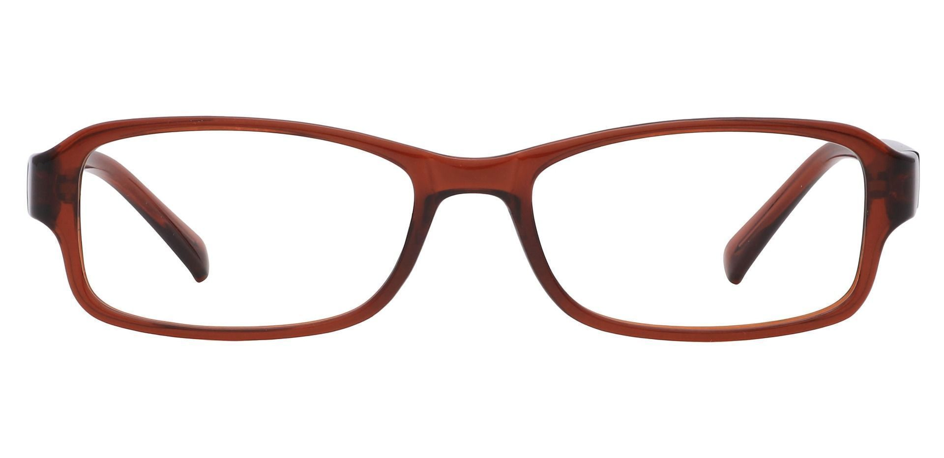 Rowan Rectangle Non-Rx Glasses - Root Beer Crystal