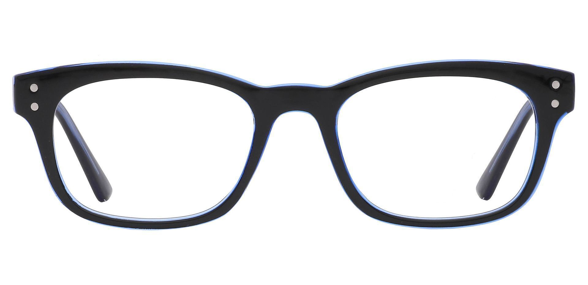 Hanover Oval Prescription Glasses - The Frame Is Blue And Black