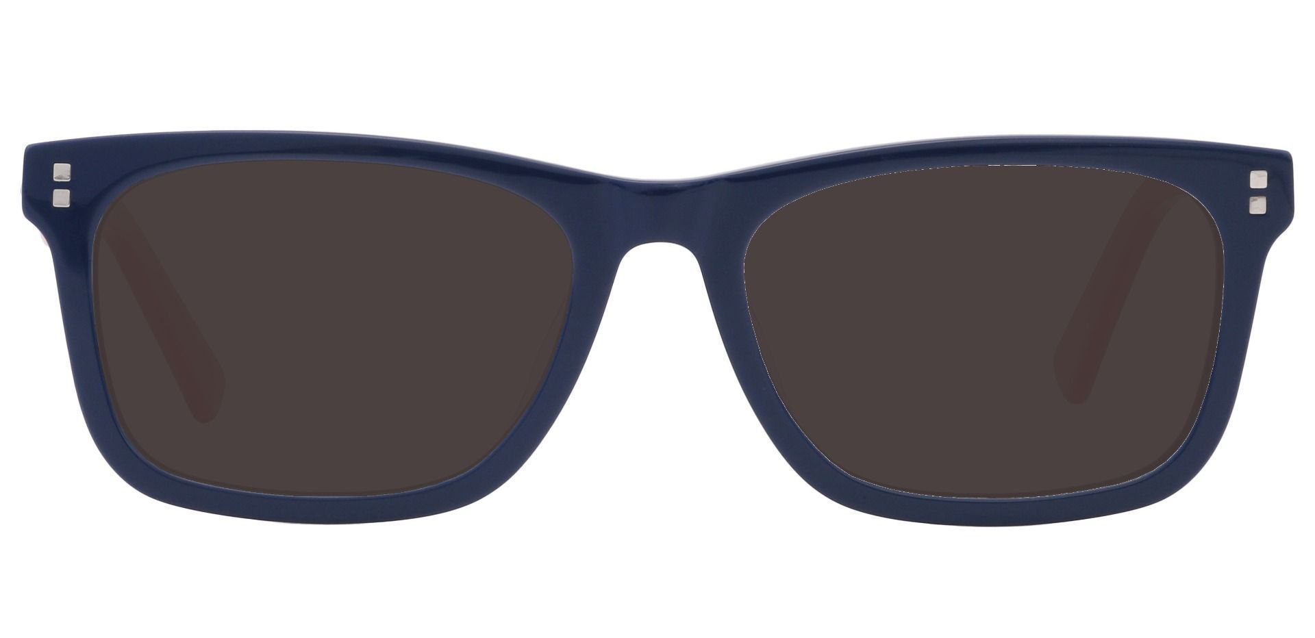 Newbury Rectangle Prescription Sunglasses - Blue Frame With Gray Lenses