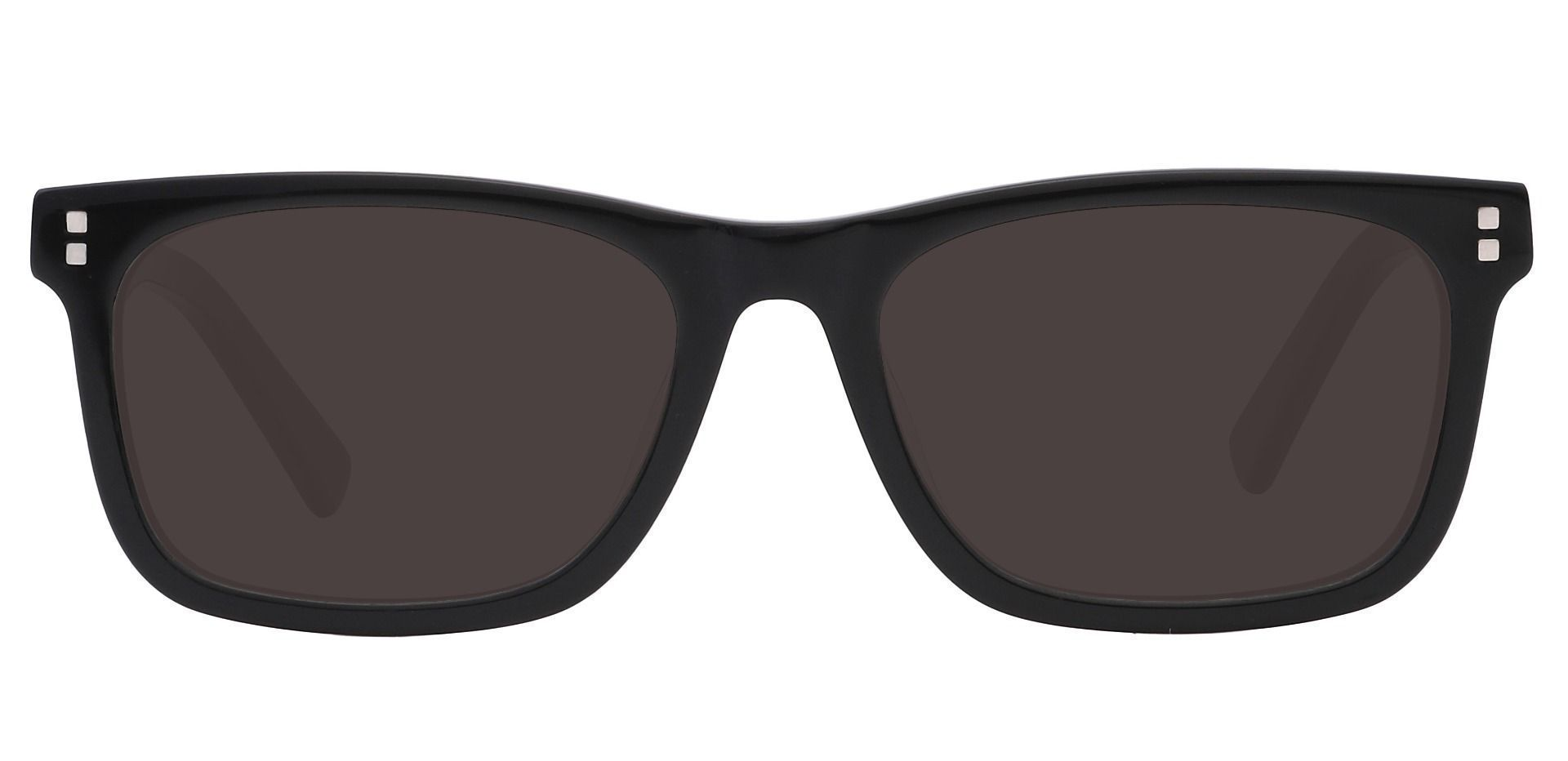 Liberty Rectangle Lined Bifocal Sunglasses - Black Frame With Gray Lenses