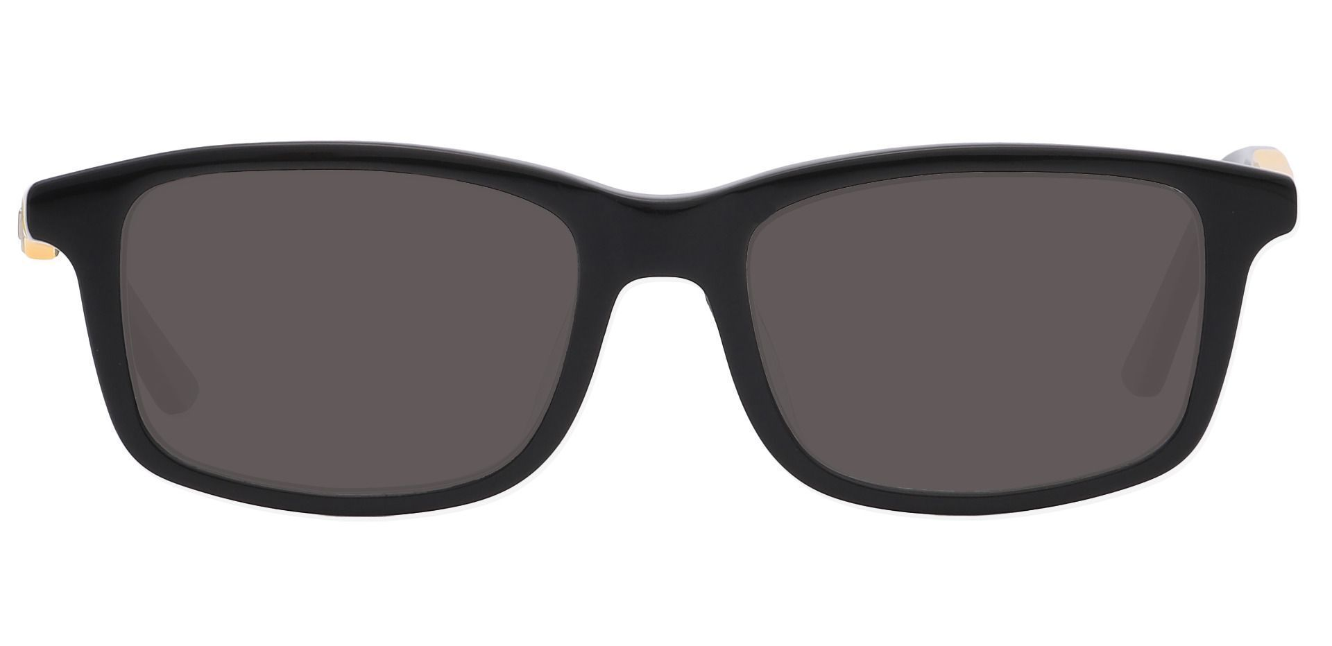Allegheny Rectangle Non-Rx Sunglasses - Black Frame With Gray Lenses