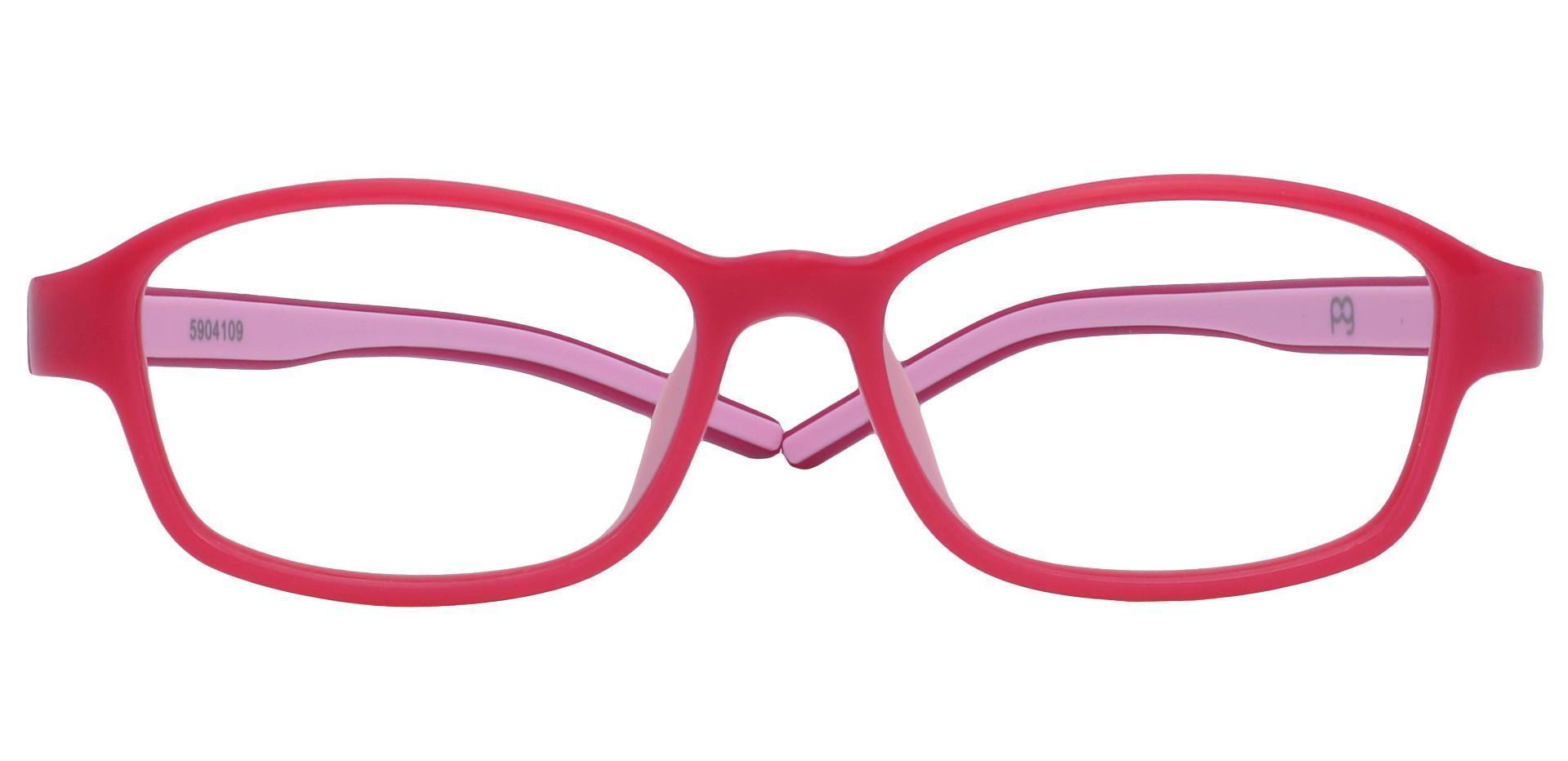 Berry Oval Prescription Glasses - Pink