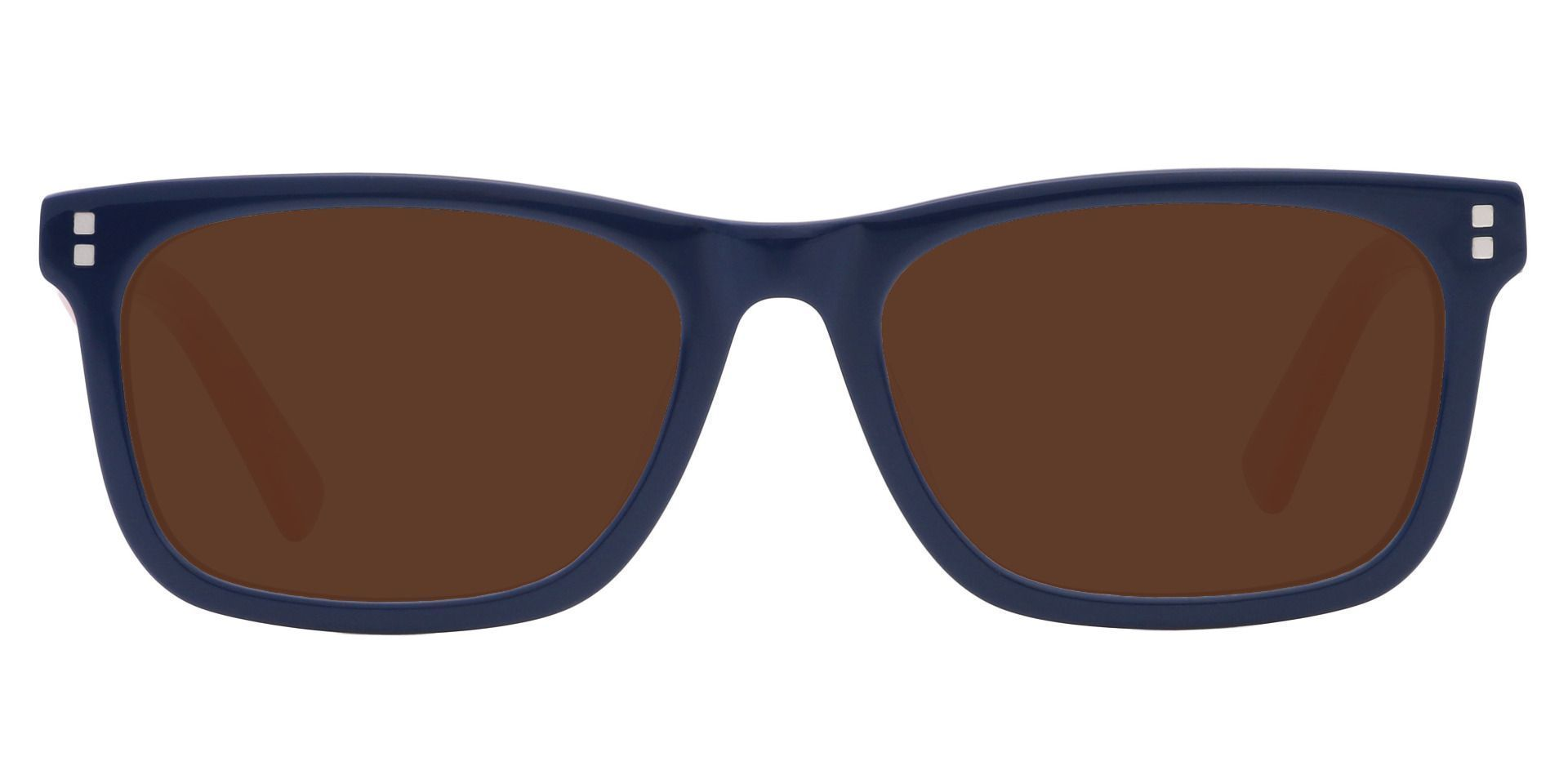 Harbor Rectangle Lined Bifocal Sunglasses - Blue Frame With Brown Lenses