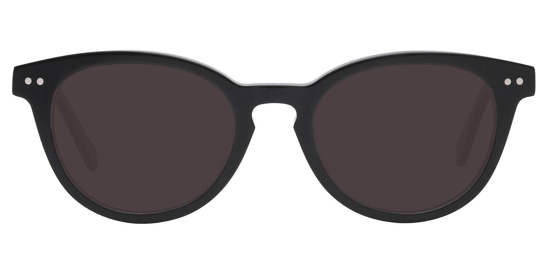 Forbes Oval Lined Bifocal Sunglasses - Black Frame With Gray Lenses