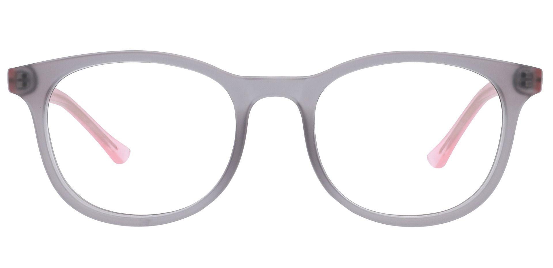Gretchen Oval Progressive Glasses - Matte Grey Crystal