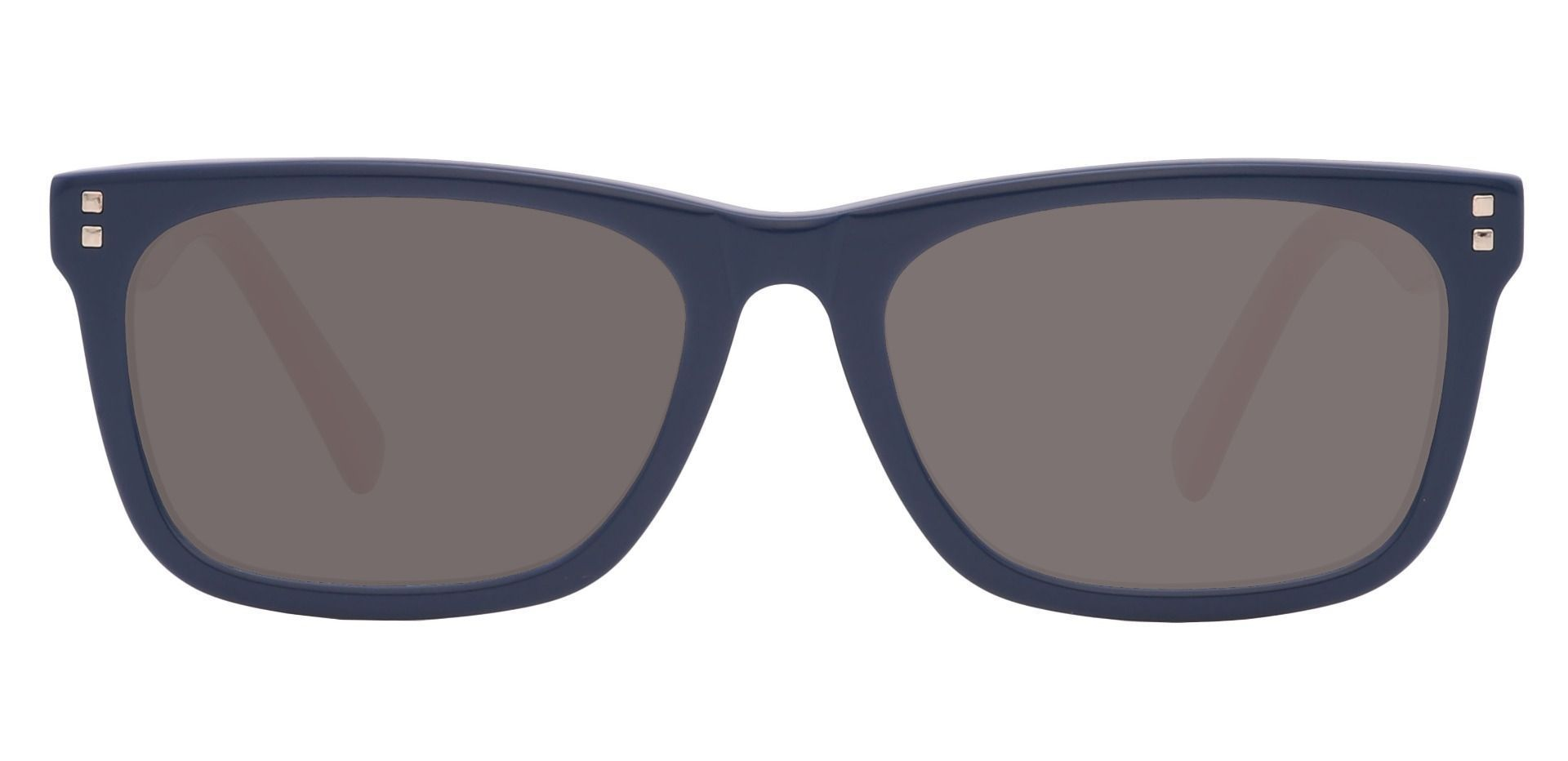 Quincy Rectangle Reading Sunglasses - Blue Frame With Gray Lenses
