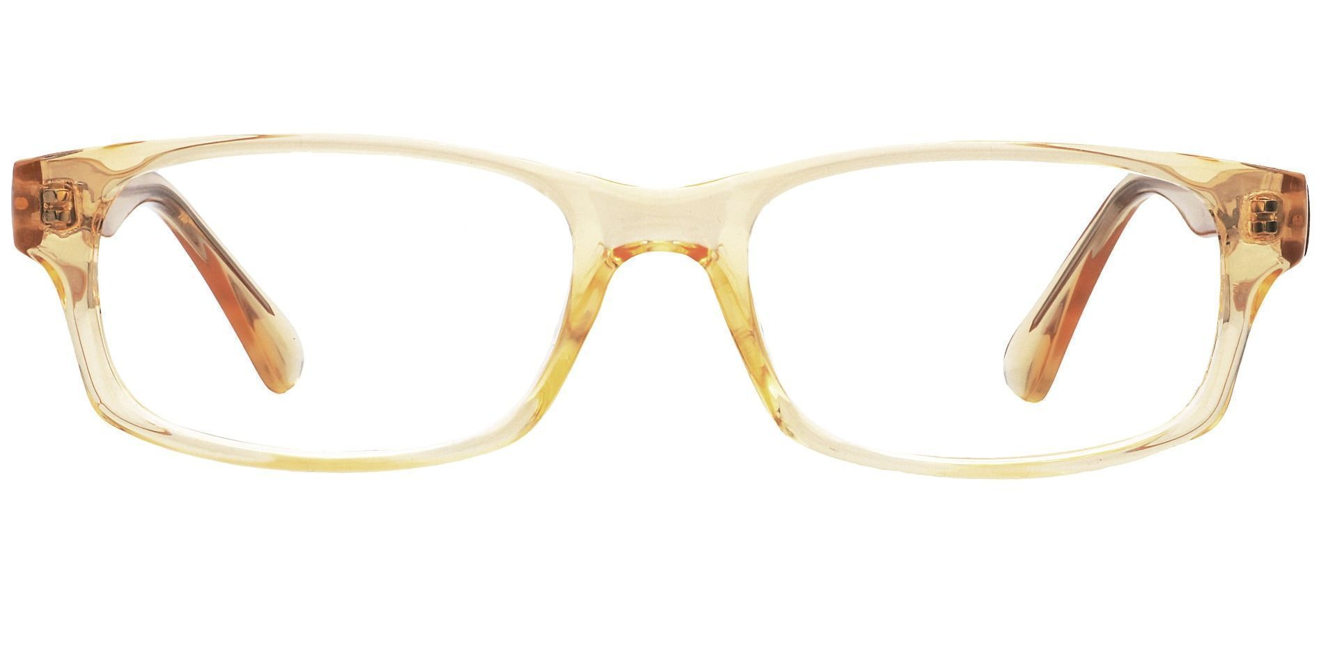 Janel Rectangle Progressive Glasses - Yellow