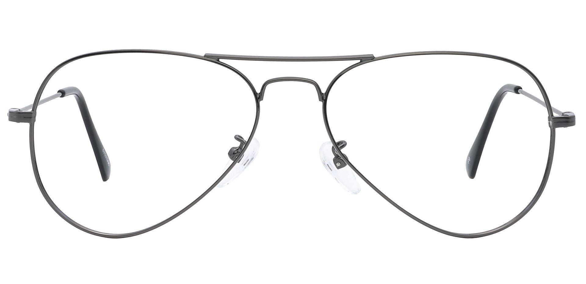 Memphis Aviator Blue Light Blocking Glasses - Gray