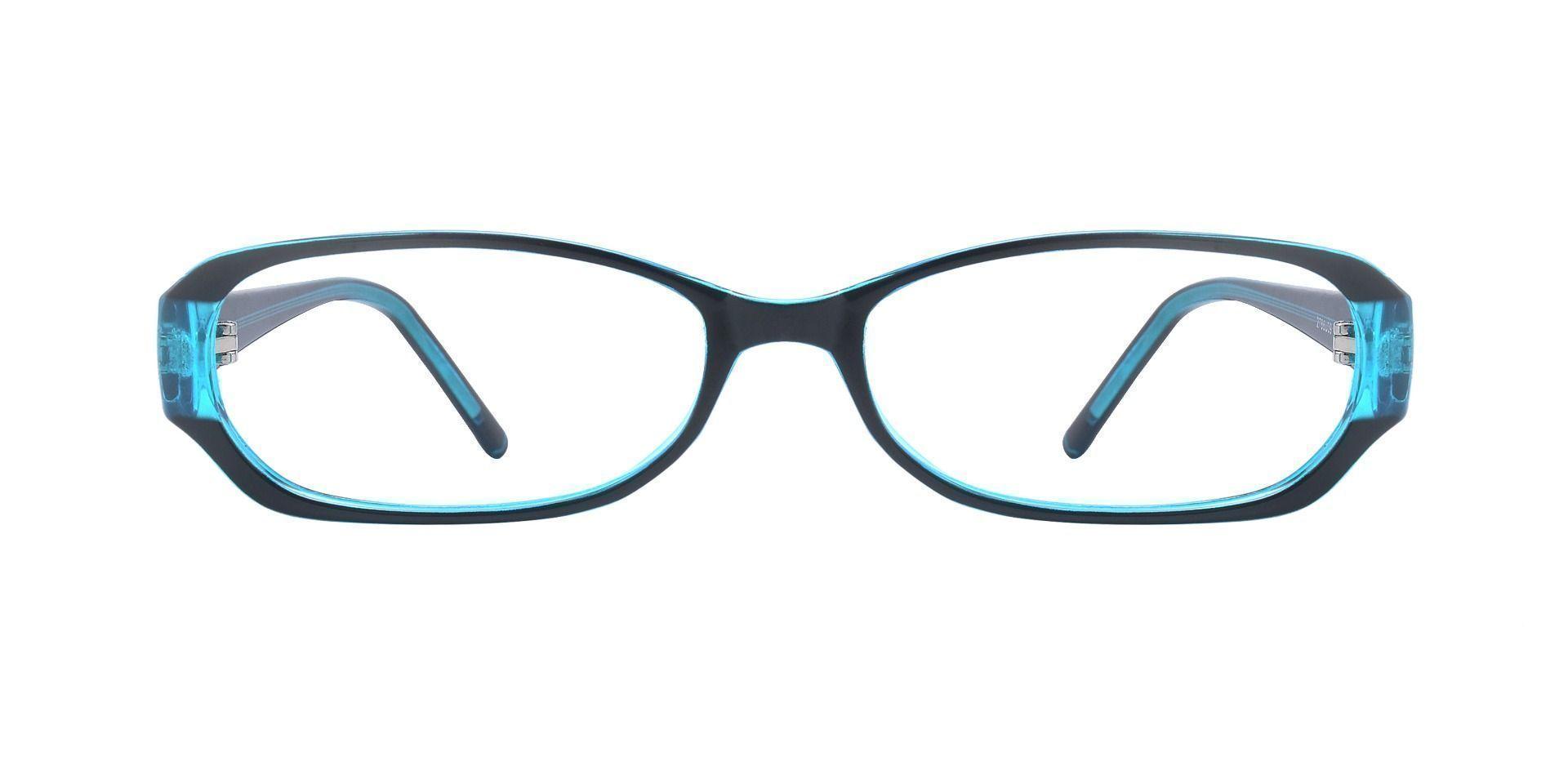 Nairobi Oval Blue Light Blocking Glasses - The Frame Is Black And Blue