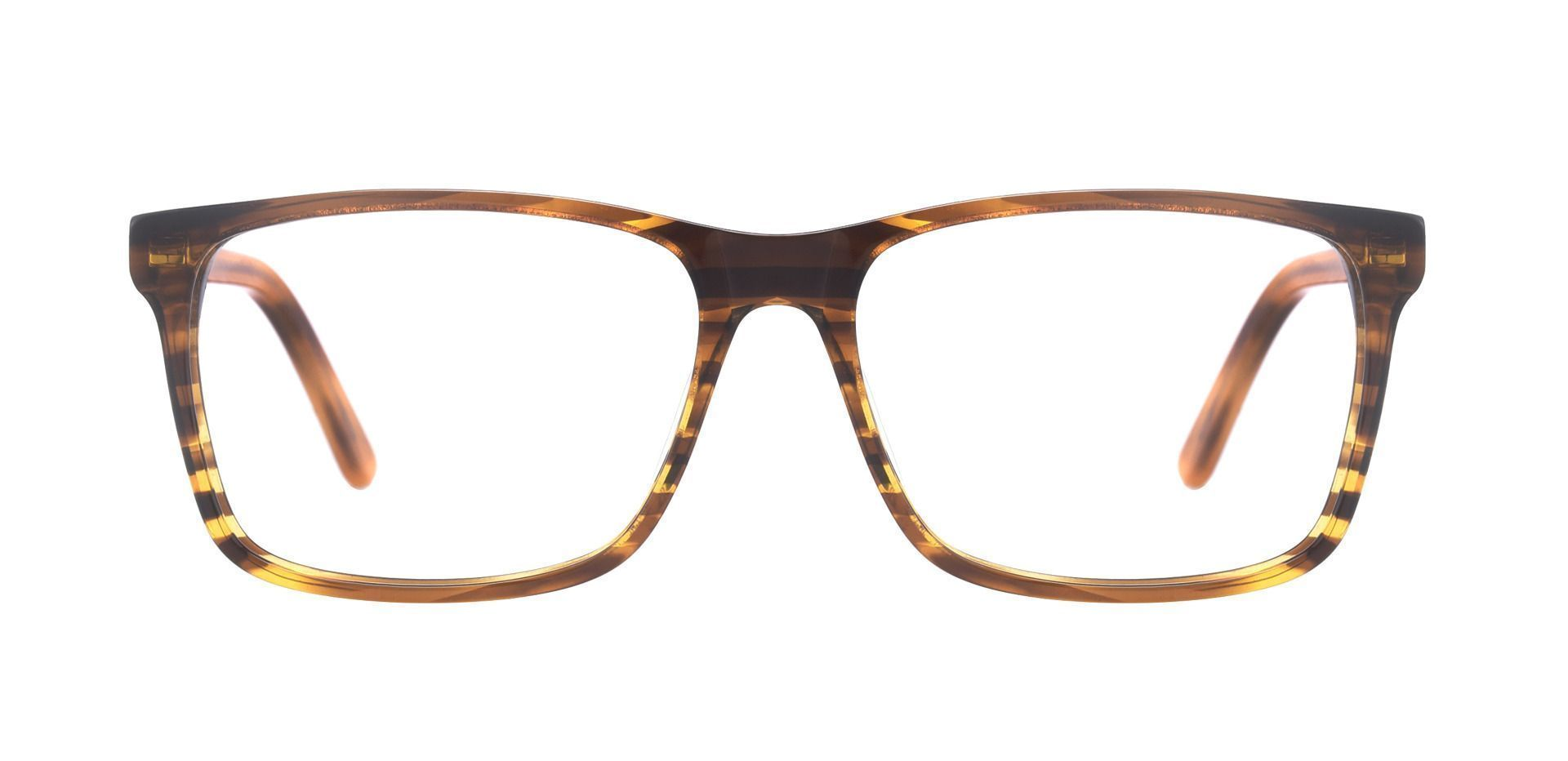 Clifton Rectangle Lined Bifocal Glasses - Brown