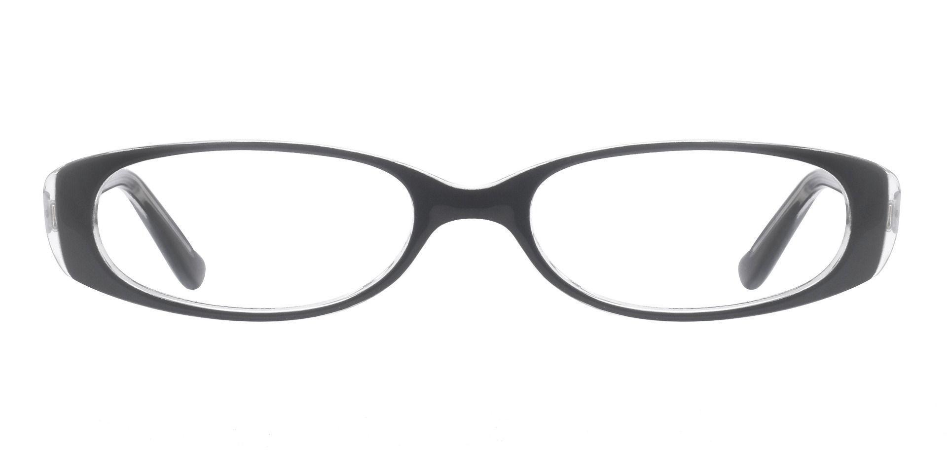 Venetia Oval Blue Light Blocking Glasses - Black Crystal