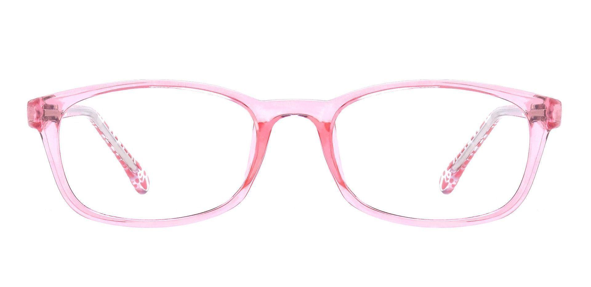 Violet Rectangle Lined Bifocal Glasses - Pink Crystal Wth Gems