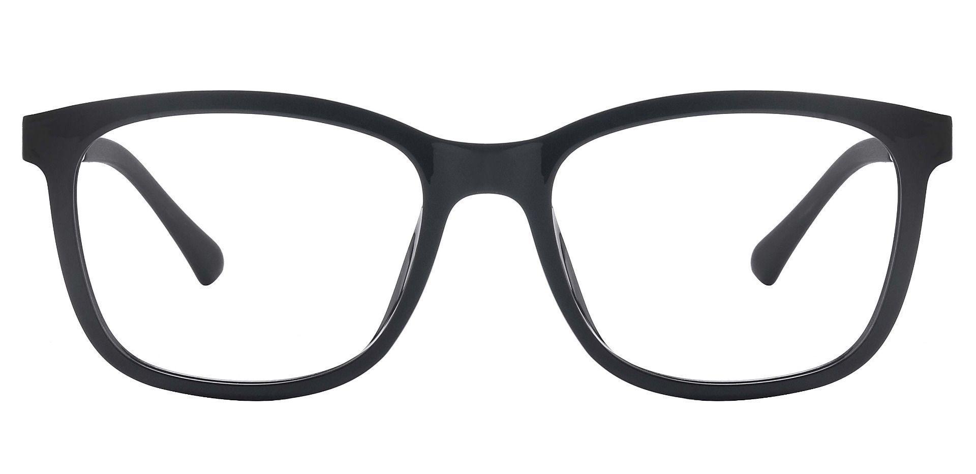 Cairo Classic Square Prescription Glasses - The Frame Is Black And White