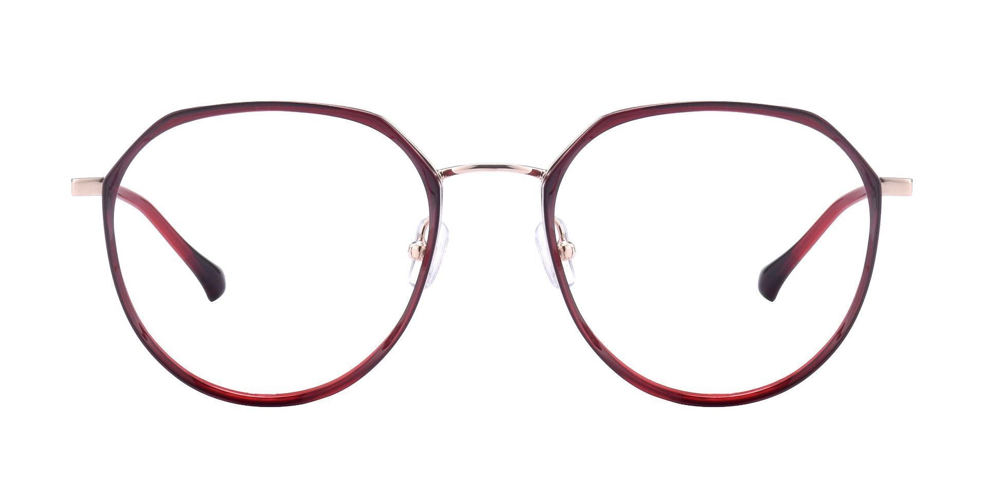 Yorke Geometric Prescription Glasses - Wine/rosegold
